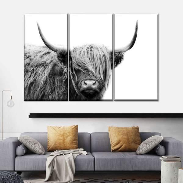 Highland Cow Multi Panel Canvas Wall Art